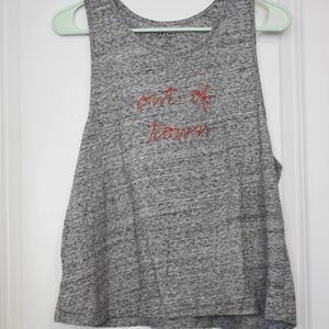 Madewell Mile(s) Out of Town Gray Tank, Size L